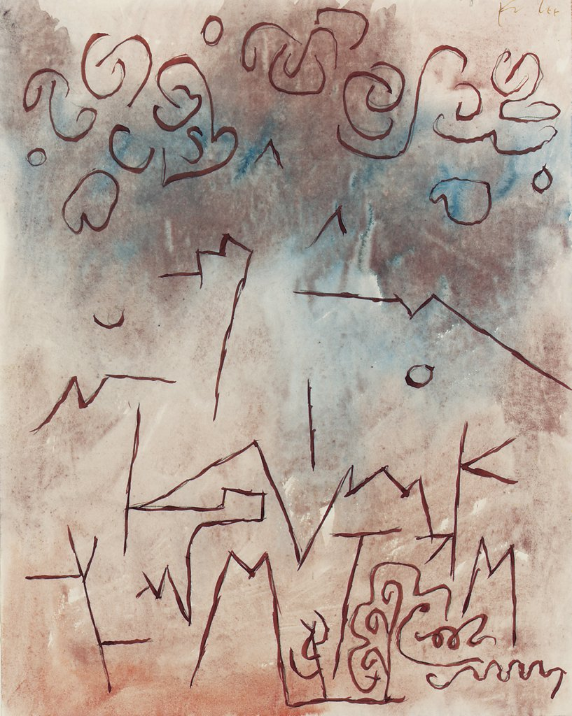 Stock Photo: 866-5658 Es Wird Regnen Paul Klee (1879-1940 Swiss) Watercolor, col ink on paper