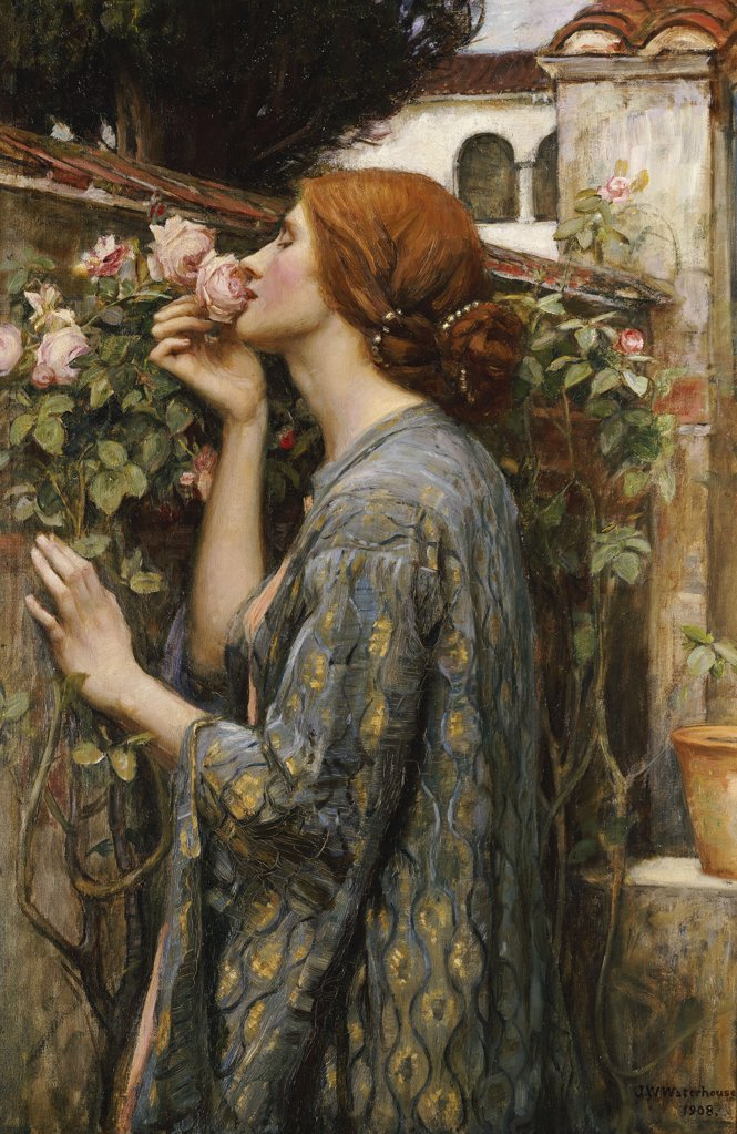 The Soul Of The Rose, John William Waterhouse R,A, (1849-1917),  Oil On Canvas, 1908 : Stock Photo