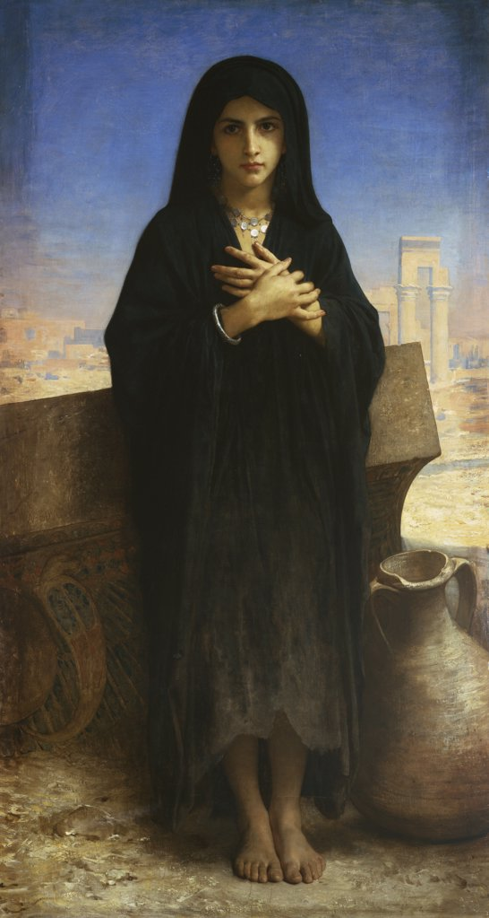Young Arab Working Girl, Full Length;  Jeune Fille Fellah (En Pied),  William Adolphe Bouguereau (1825-1905), Oil On Canvas, 1876 : Stock Photo