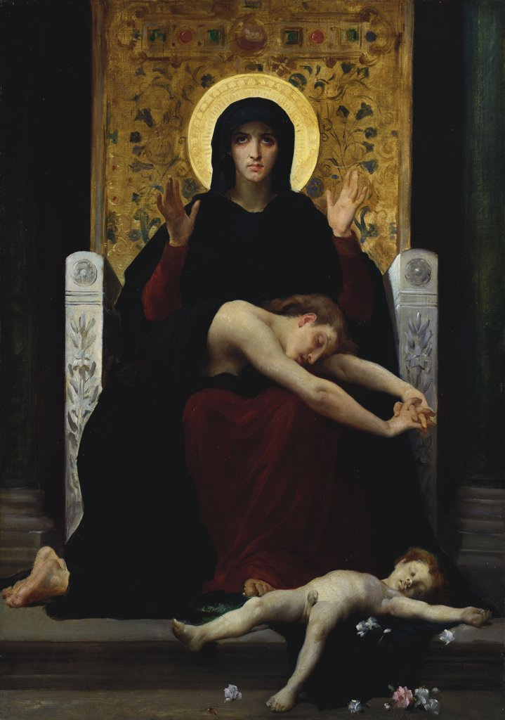 Stock Photo: 866-5780 Vierge Consolatrice,  William Adolphe Bouguereau (1825-1905), Oil On Canvas, 1877