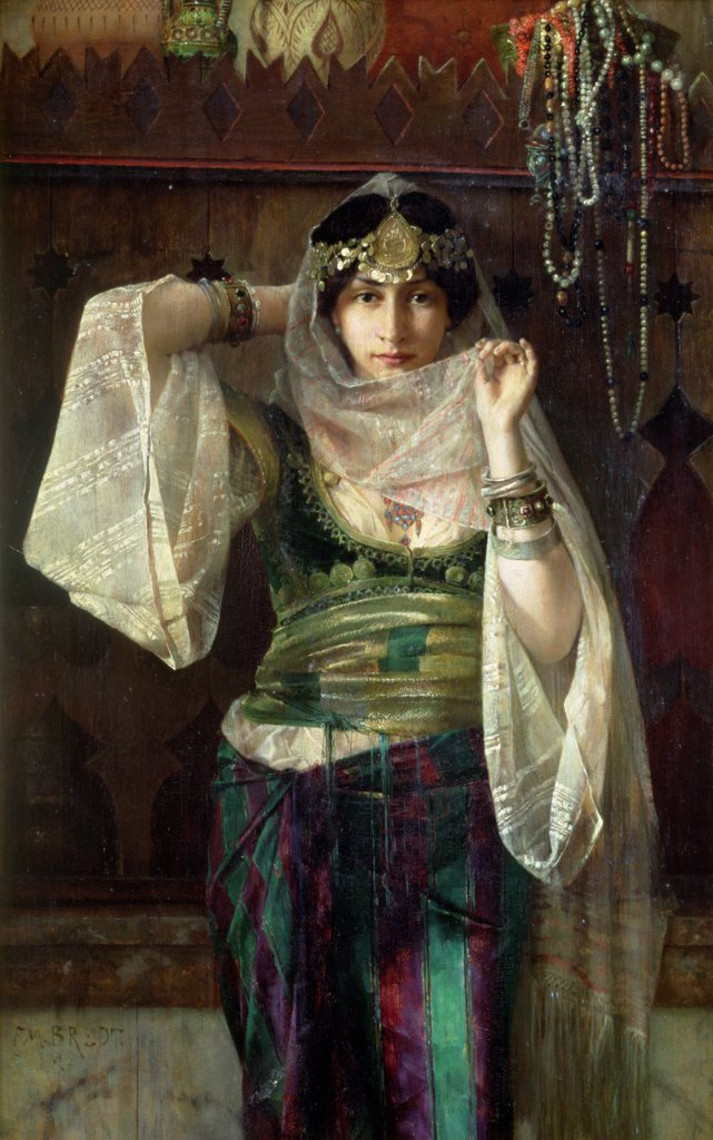 The Queen Of The Harem, Ferdinand Max Bredt (1868-1921), Oil On Canvas : Stock Photo