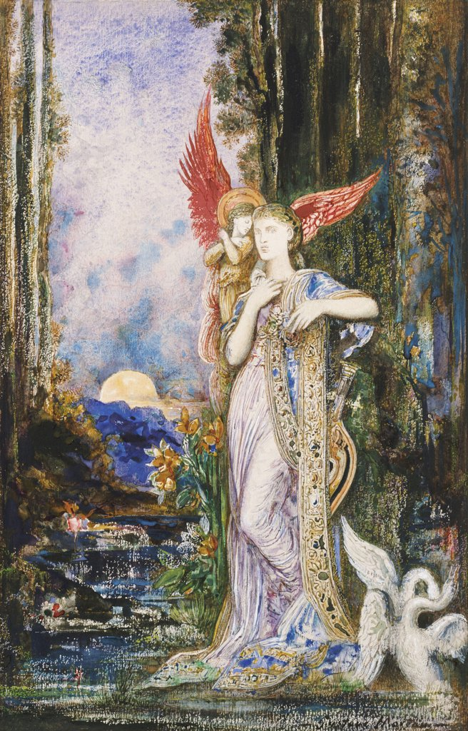 Inspiration. L'Inspiration. Gustave Moreau (1826-1898). Watercolour On Paper. : Stock Photo