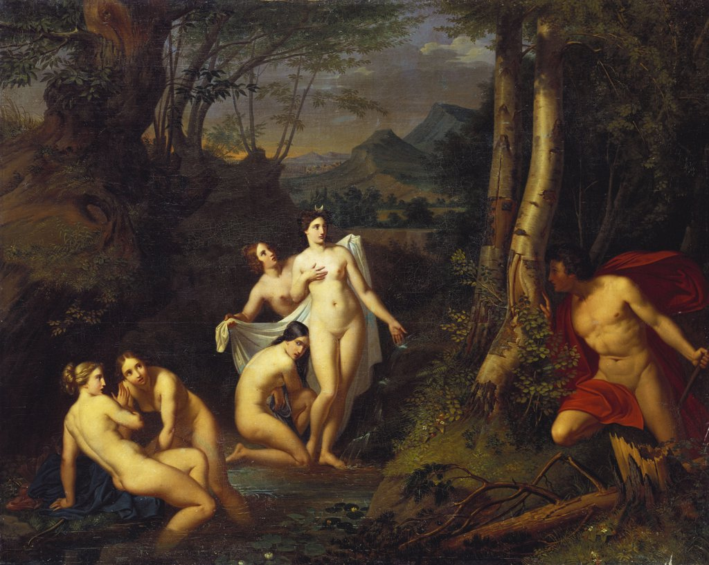 Stock Photo: 866-5822 Diana And Actaeon.  Emil Jacobs (1842-1892). Oil On Canvas, 1832.
