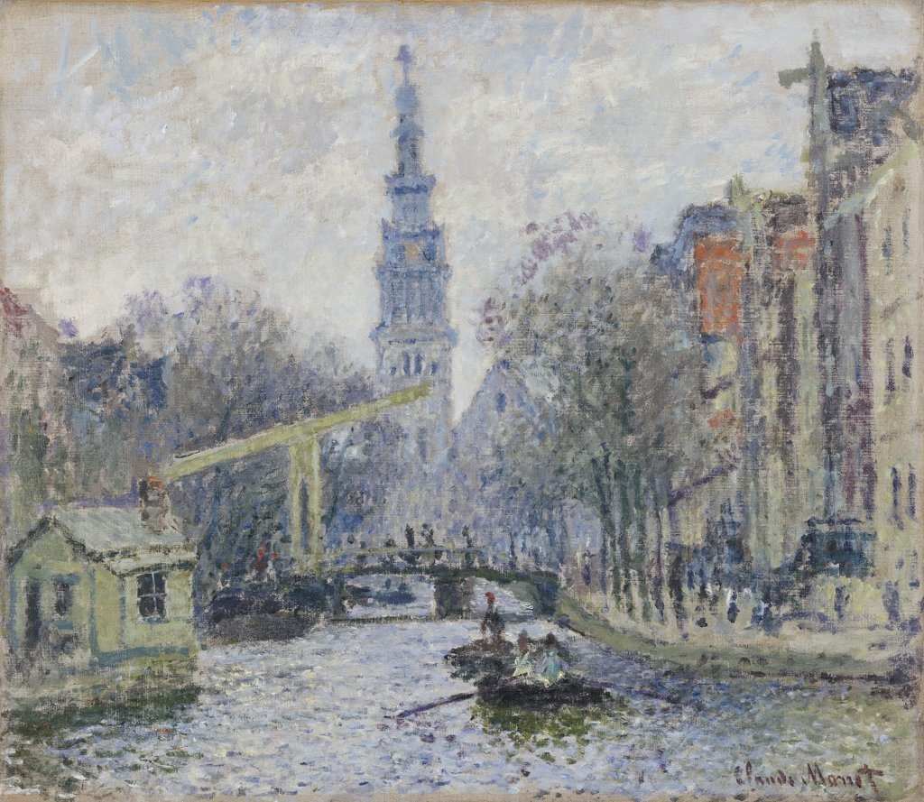 Stock Photo: 866-5845 Canal A Amsterdam. Claude Monet (1840-1926).  Oil On Canvas, 1874.