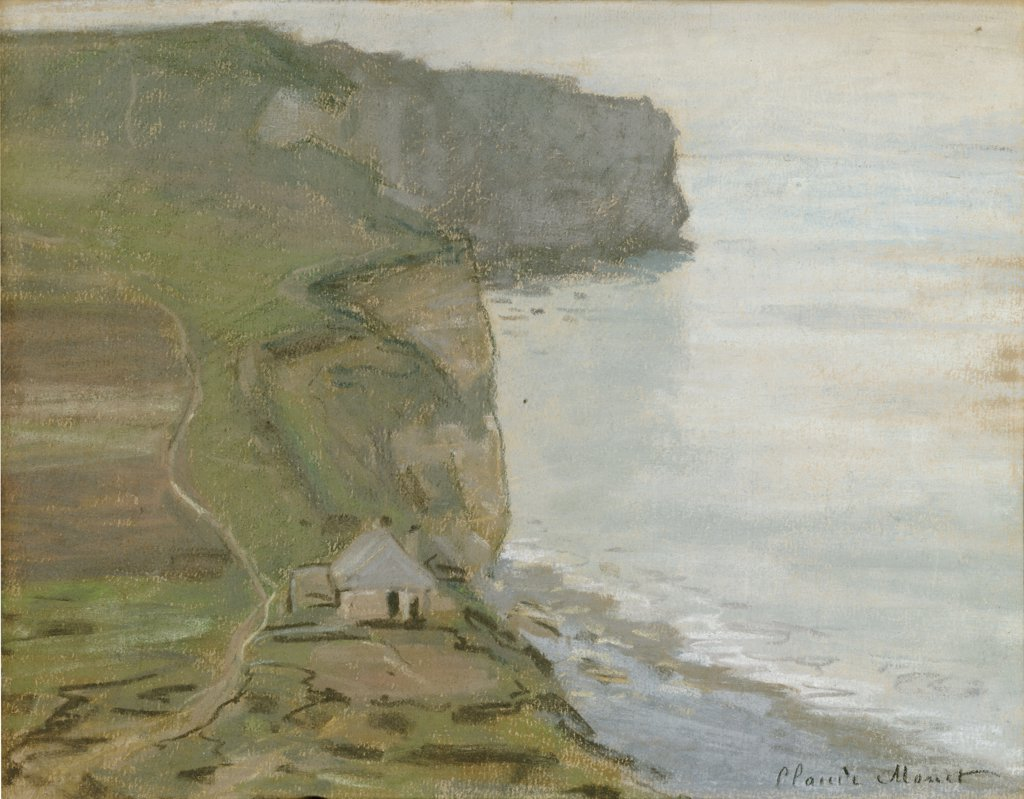 Stock Photo: 866-5861 Cape Antifer, Etretat. Etretat, Le Cap D'Antifer.  Claude Monet (1840-1926).  Oil On Canvas.