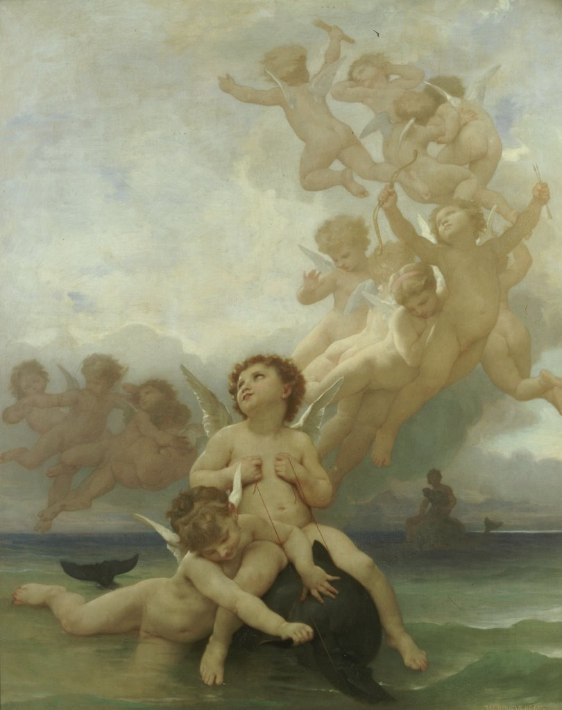 Stock Photo: 866-5949 The Birth Of Venus.  William Adolphe Bouguereau  (1825-1905). Oil On Canvas. Catalogue No. 1138c.