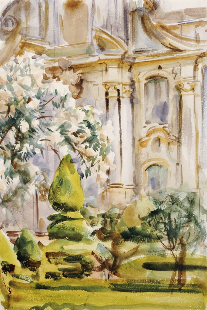 Palace And Gardens, Spain.  John Singer Sargent R.A.  (1856-1925).  Pencil And Watercolour On Paper, 1912. : Stock Photo