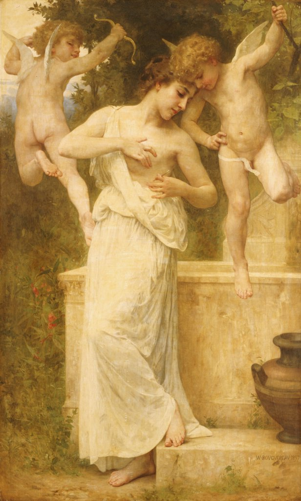 Blessures D'Amour. William Adolphe Bouguereau (1825-1905). Oil On Canvas, 1897. : Stock Photo