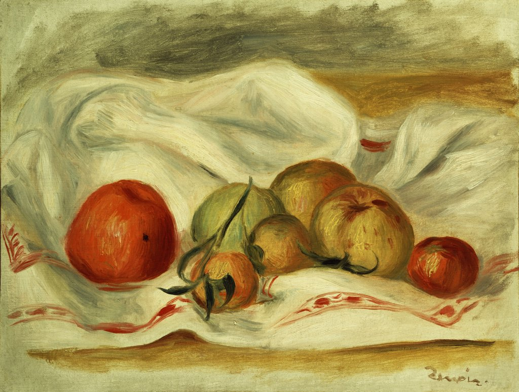 Still Life; Nature Morte. Pierre Auguste Renoir (1841-1919). Oil On Canvas. : Stock Photo