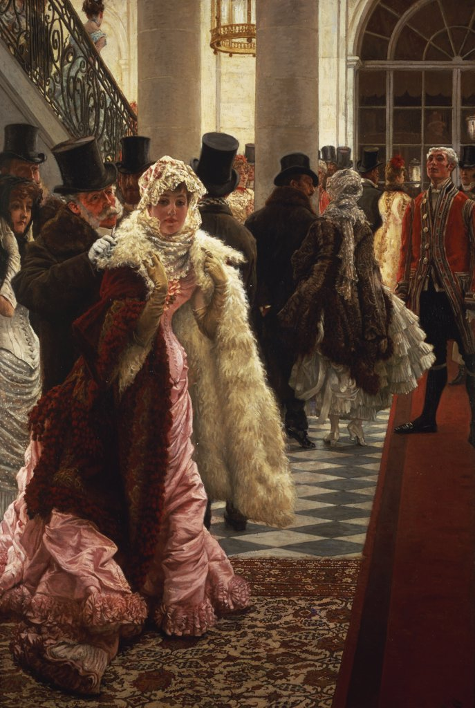 Stock Photo: 866-6128 The Woman of Fashion, or La Mondain. James Joseph Tissot (1836-1902). Oil on canvas.