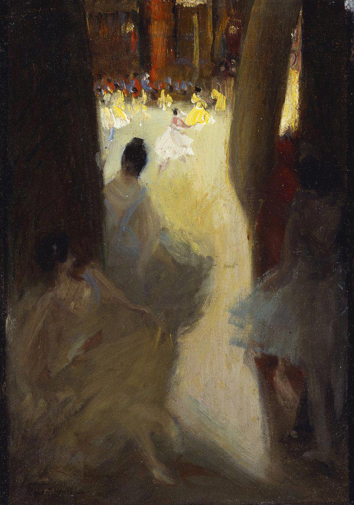 Stock Photo: 866-7308 Ballet Girls, Philadelphia. Robert Henri (1865-1929). Oil on canvas.