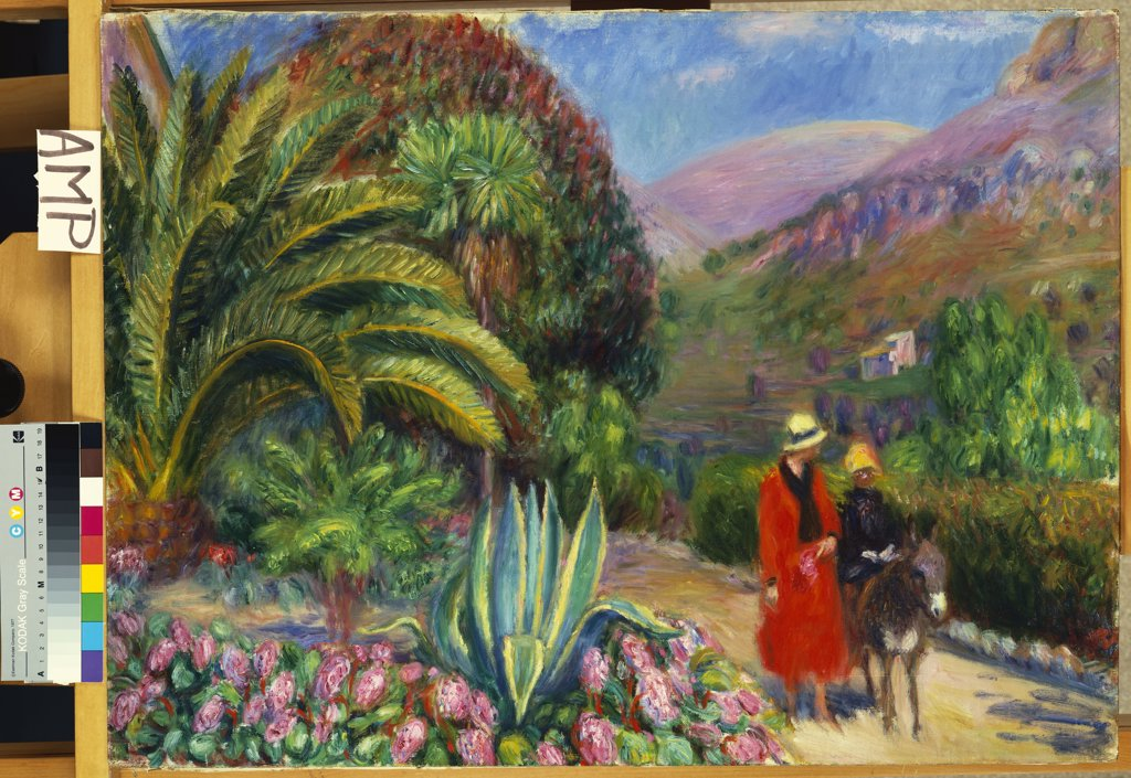 Stock Photo: 866-7530 Afternoon In Provence.  William James Glackens (1870-1938). Oil On Canvas.