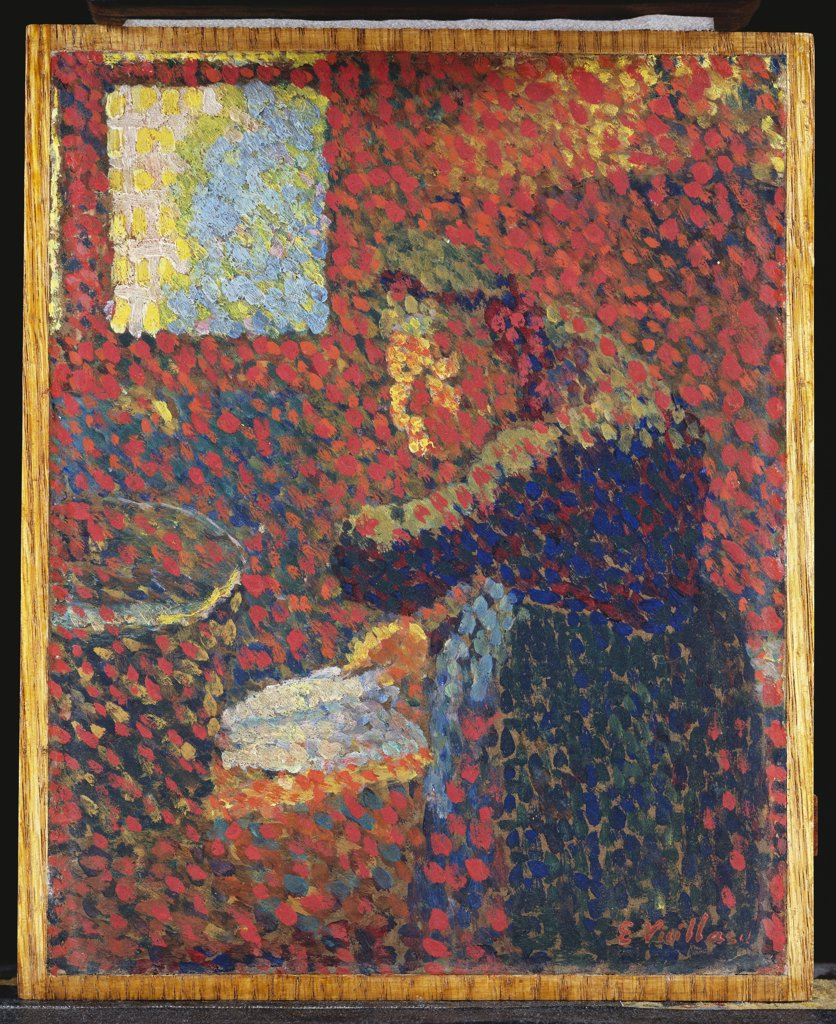 My Grandmother; Ma Grand-Mere.  Edouard Vuillard (1868-1940). Oil On Board. : Stock Photo