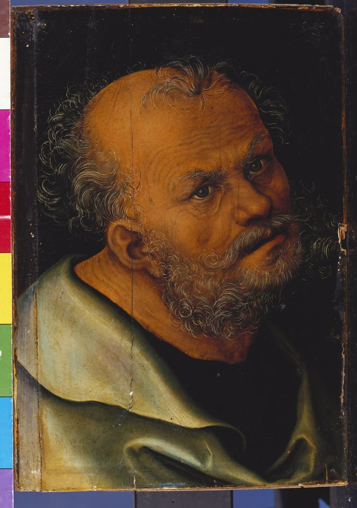 Saint Peter. Lucas Cranach I (1472-1553). Oil On Panel 26.7 X 17.2cm. : Stock Photo