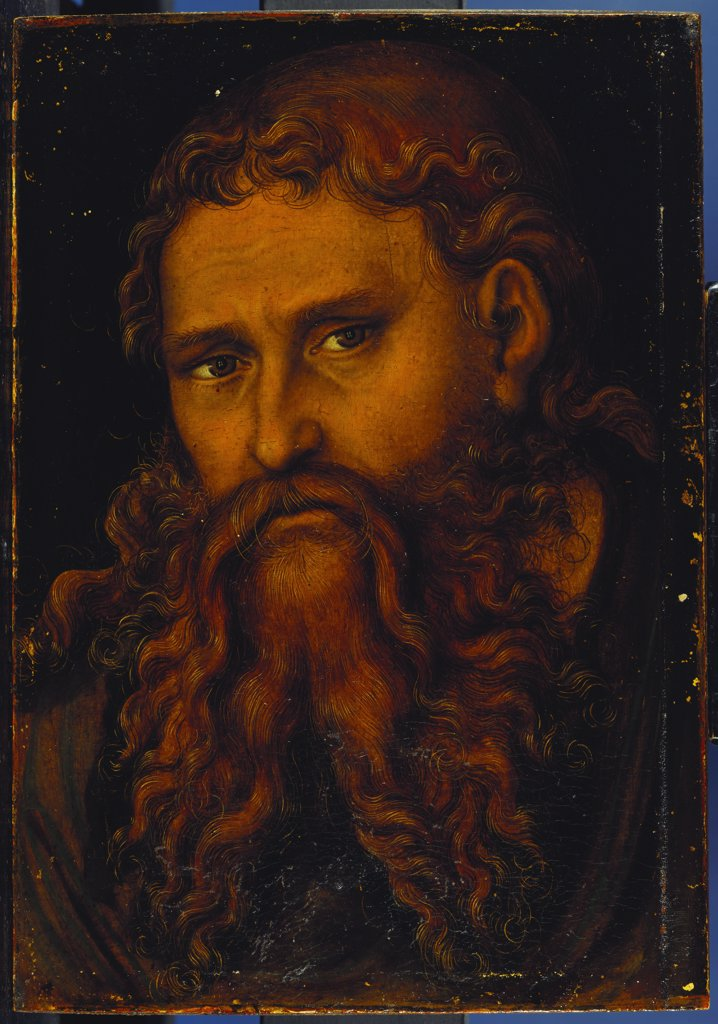 Stock Photo: 866-7635 Christ. Lucas Cranach I (1472-1553). Oil On Panel, 26.7 X 17.5cm.