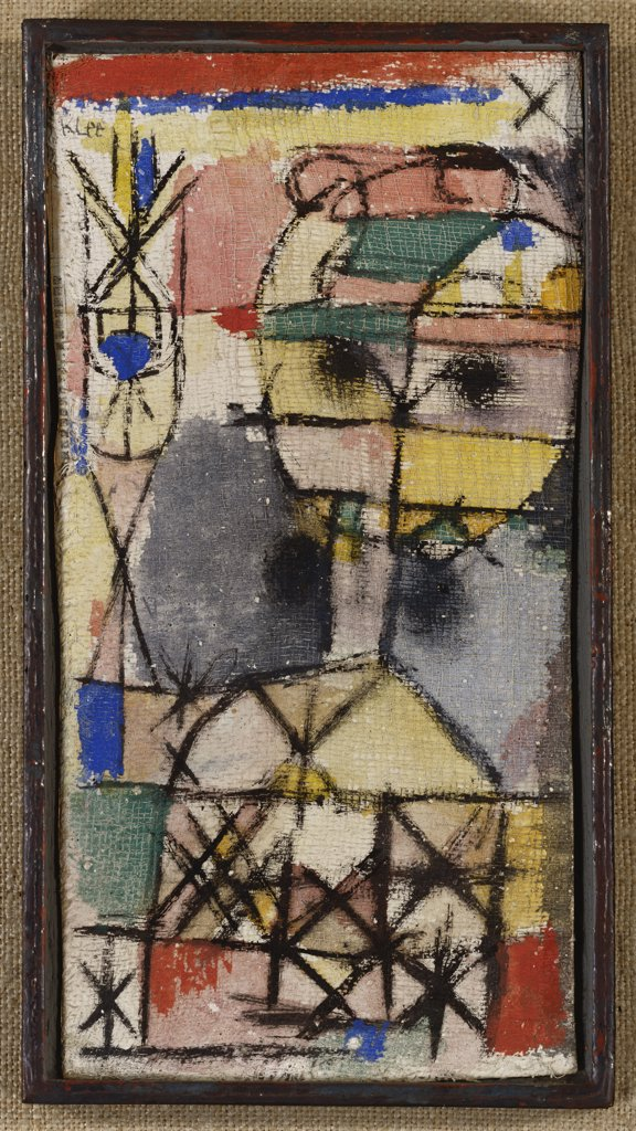 Stock Photo: 866-7933 Head; Kopf. Paul Klee (1879-1940). Tempera On Gauze Laid Down By The Artist On Board, 1919.