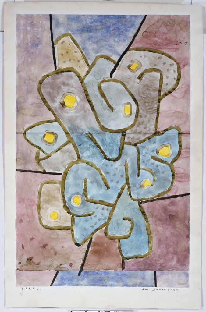 The Lemon Tree; Der Sauerbaum. Paul Klee (1879-1940). Watercolour On Joined Paper Mounted On Paper By The Artist, 1939. : Stock Photo