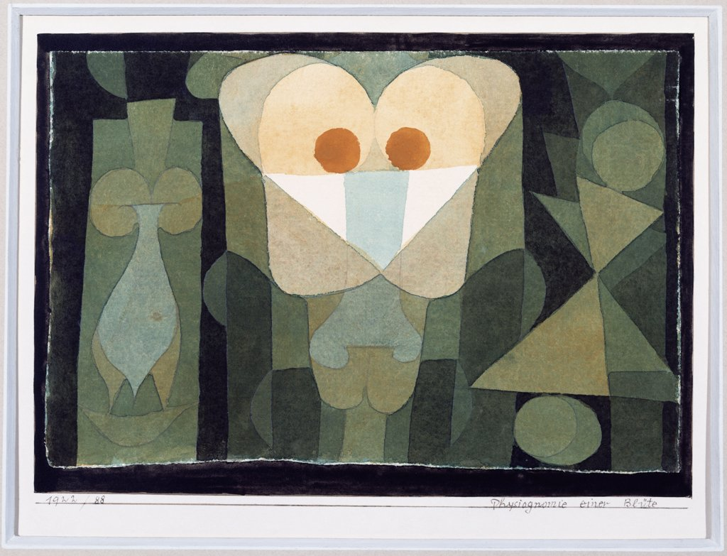 Stock Photo: 866-7950 The Physiognomy Of A Bloodcell; Physiognomie Einer Blute.  Paul Klee (1879-1940). Watercolour On Ingres Paper, 1922.