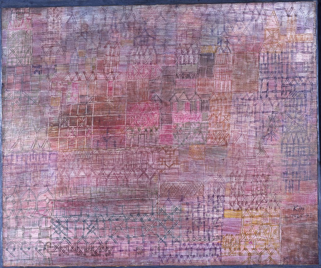 Stock Photo: 866-7952 Cathedrals; Kathedralen. Paul Klee (1879-1940). Oil On Canvas, 1925.