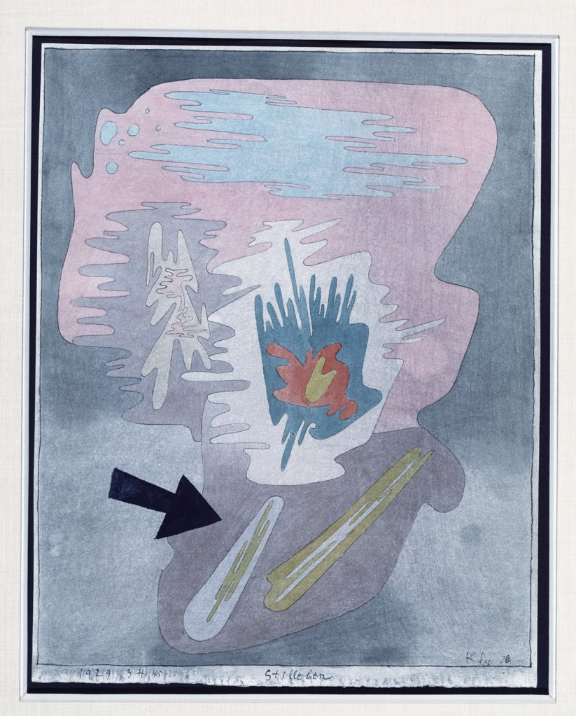 Stock Photo: 866-7955 Still Life; Stilleben. Paul Klee (1879-1940). Watercolour And Pen And Ink On Fabriano Paper, 1929.