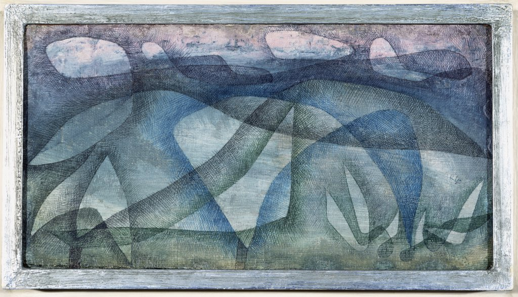 Rainy Day; Regentag. Paul Klee (1879-1940). Oil and pen and brush and coloured inks on gessoed burlap, 1931. : Stock Photo