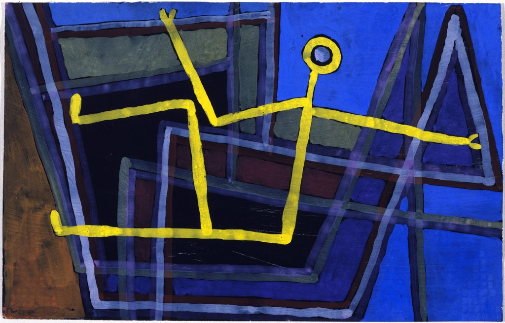Stock Photo: 866-7960 Framed; Im Gebalk.  Paul Klee (1879-1940).  Gouache On Paper Mounted On Board, 1935.