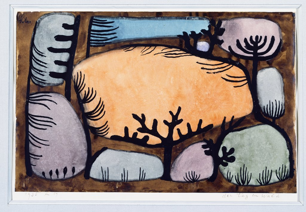 Stock Photo: 866-7961 The Day In The Forest; Der Tag Im Wald.  Paul Klee (1879-1940). Gouache And Watercolour On Paper, 1935.