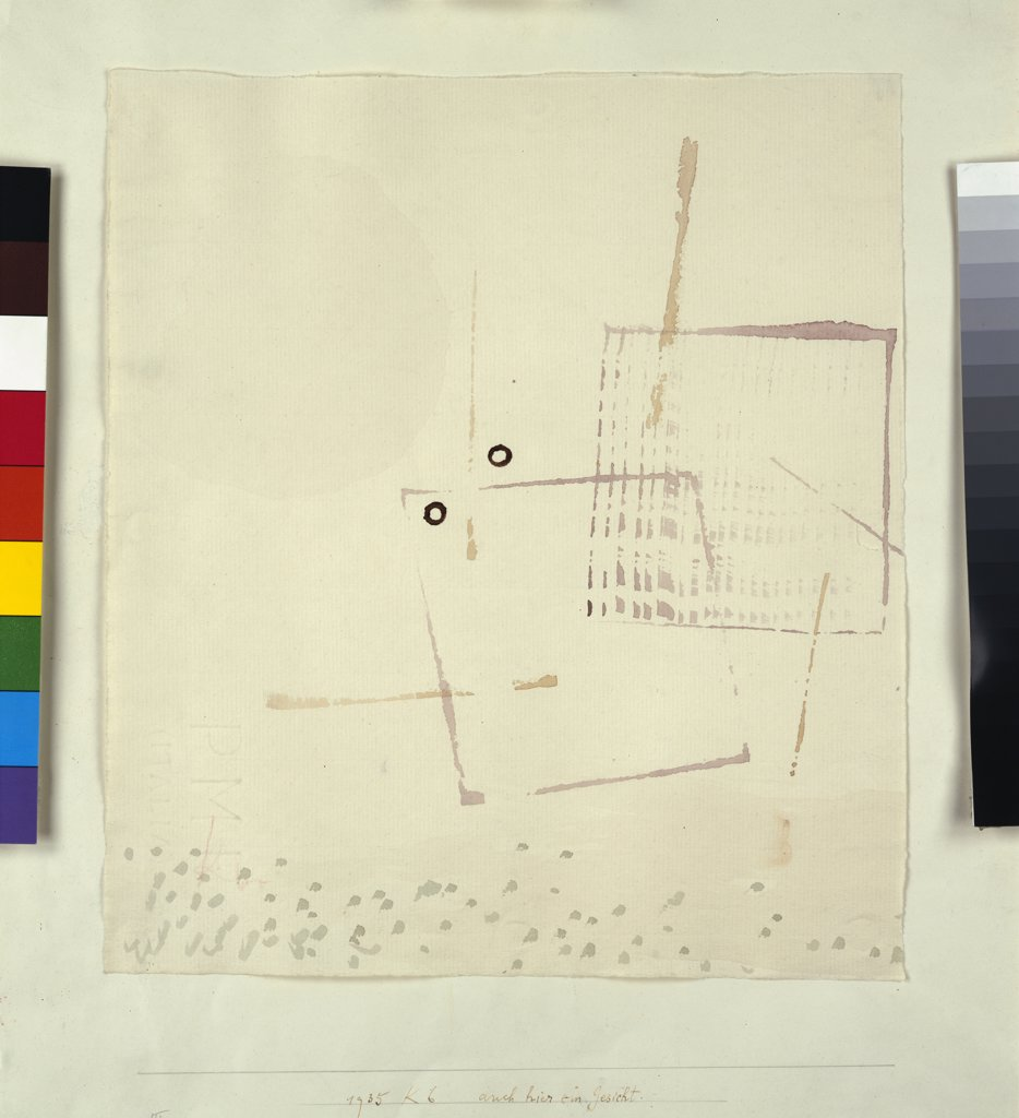 Stock Photo: 866-7968 Arich Hier eim Gesicht. Paul Klee (1879-1940). Watercolour on paper, 1935.
