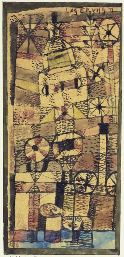 Stock Photo: 866-7981 Stratification II; Lagerung II.  Paul Klee (1879-1940).  Watercolour On Paper, 1922.