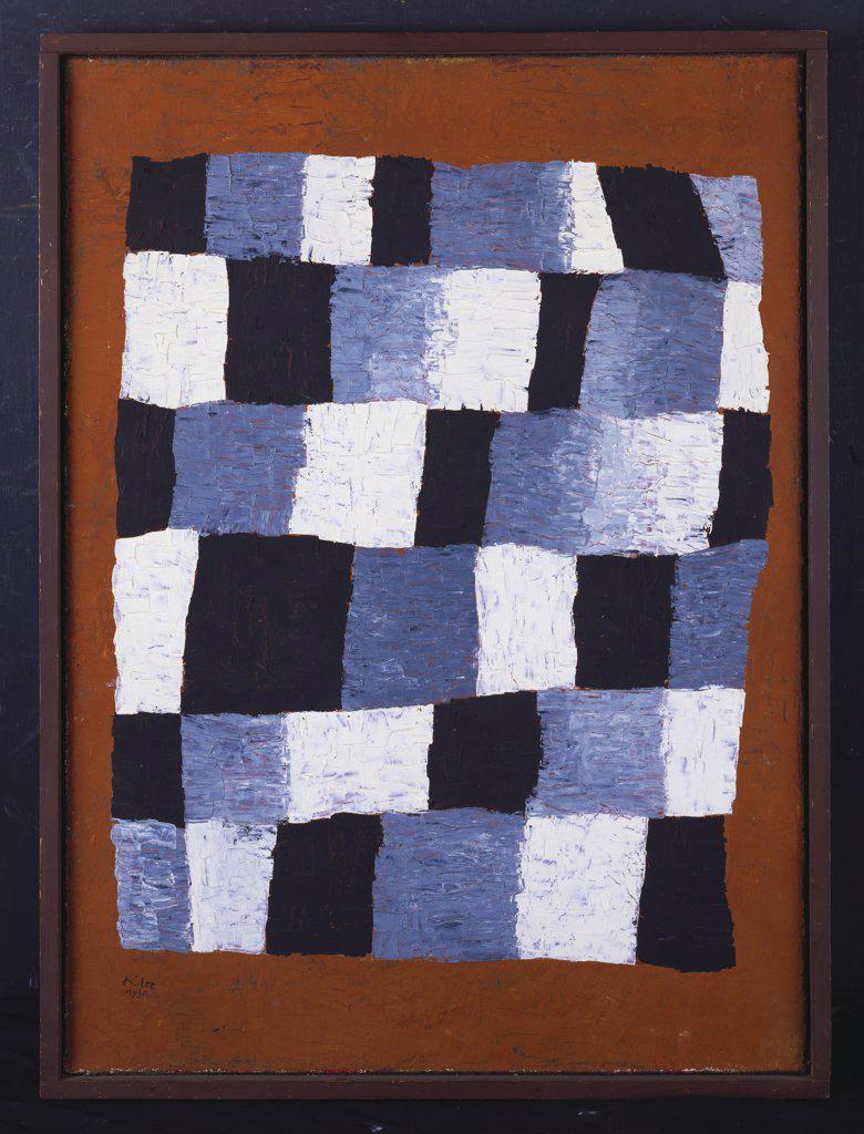 Stock Photo: 866-7993 Rhythmically. Rhythmisches. Paul Klee (1879-1940). Dated 1930, Oil On Jute, 69.6 X 50.5cm.