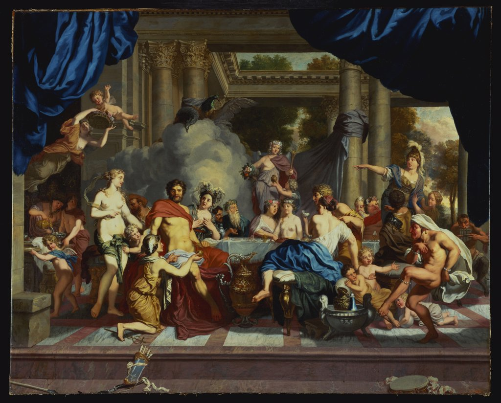 Stock Photo: 866-8079 The Marriage Feast of Peleus and Thetis. Gerard de Lairesse (1640-1711). Oil on canvas, 153 x 189.3cm.
