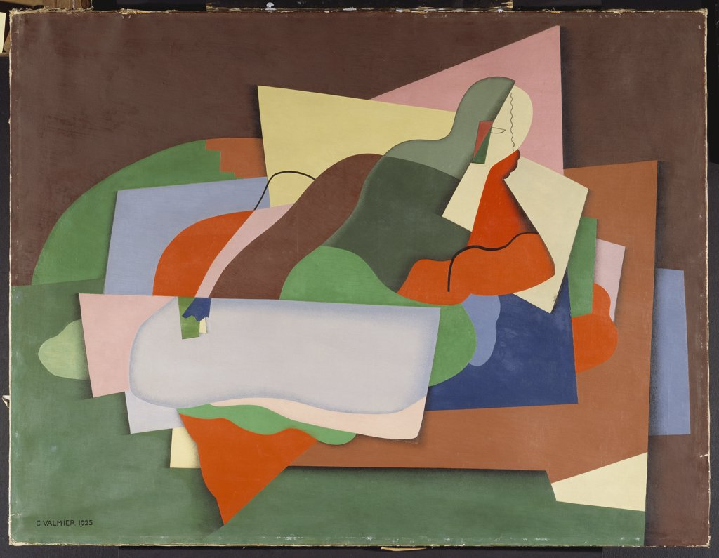 Reclining Nude; Nu Allonge. George Valmier (1885-1937). Oil on canvas. 89.5 x 116.3cm. : Stock Photo