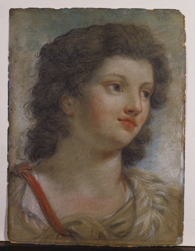 Saint John the Baptist. Giovanni Antonio Creccolini (1675-1725). Coloured chalks on paper, 302 x 227mm. : Stock Photo
