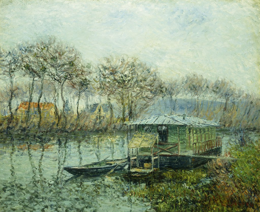 Stock Photo: 866-9221 The Seine at Port Marley; La Seine a Port Marley. Gustave Loiseau (1865-1935). Oil on canvas. Painted in 1902-1903. 51.1 x 62.2cm