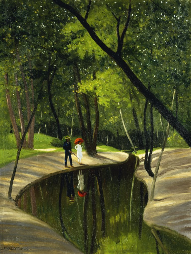 Stock Photo: 866-9257 Paysage du Boulogne. Felix Vallotton (1865-1925) . Oil on canvas. Painted in Paris, 1919. 61 x 45.7cm.
