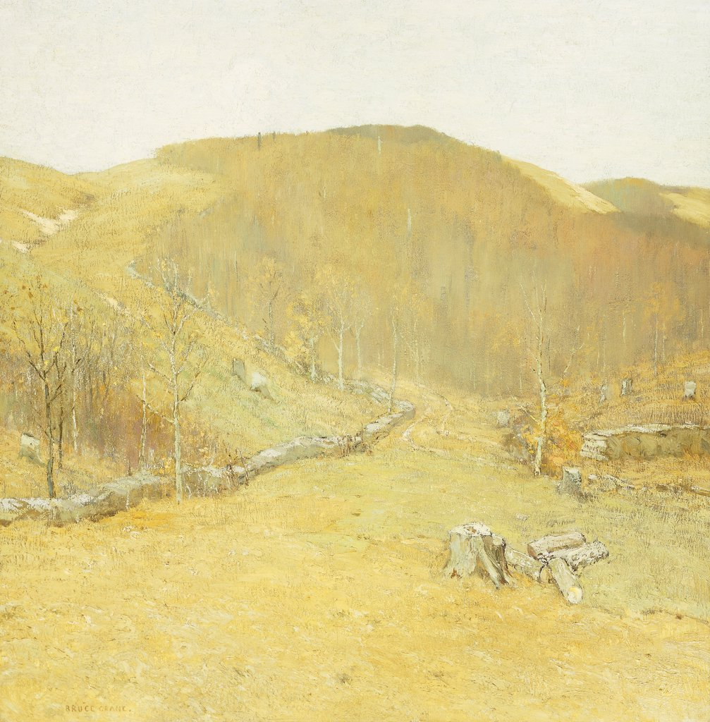 The Hills. Bruce Crane (1857-1937). Oil on canvas. Painted circa 1910. 117.5 x 115cm : Stock Photo