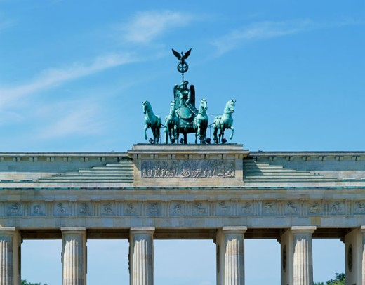 Stock Photo: 869-1404 High section view of a memorial gate, Brandenburg Gate, Berlin, Germany