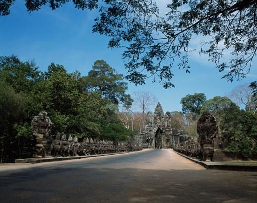 South Gate Angkor Thom Cambodia : Stock Photo