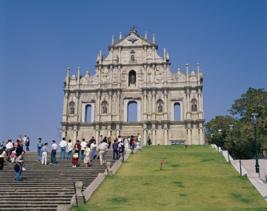 Stock Photo: 869-475A Low angle view of a cathedral, St. Paul's Cathedral, Macao, China