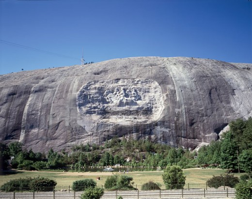 Stock Photo: 869-563C Jefferson Davis, Robert E. Lee and Stonewall Jackson