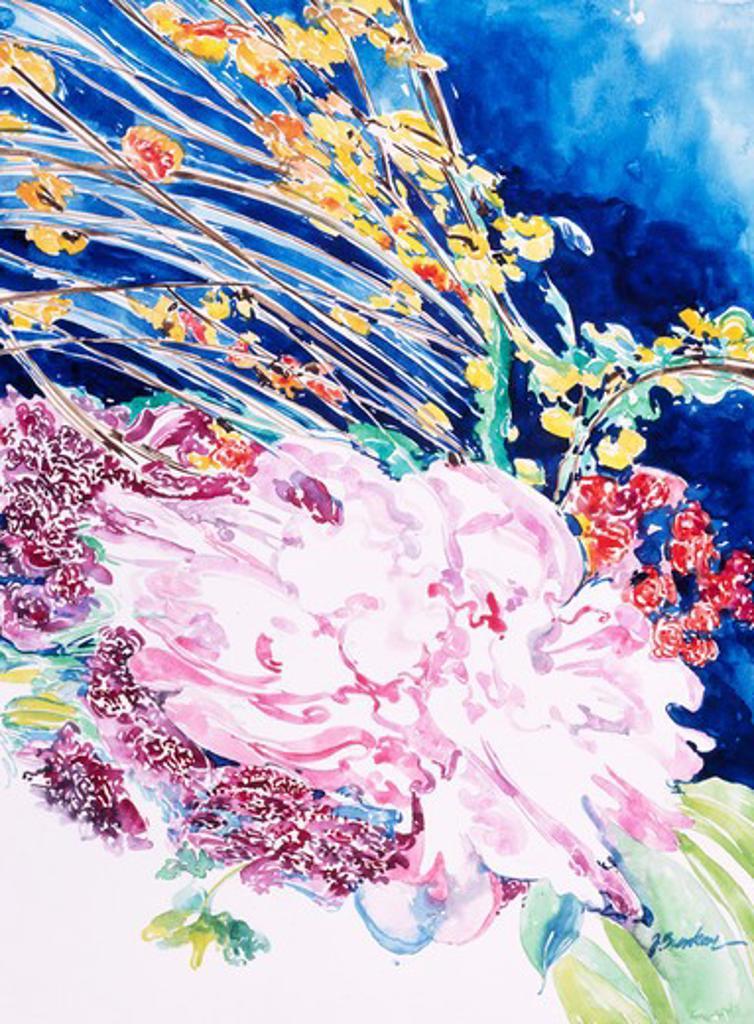 Mixed Bouquet 1993 John Bunker (20th C. American) Watercolor : Stock Photo