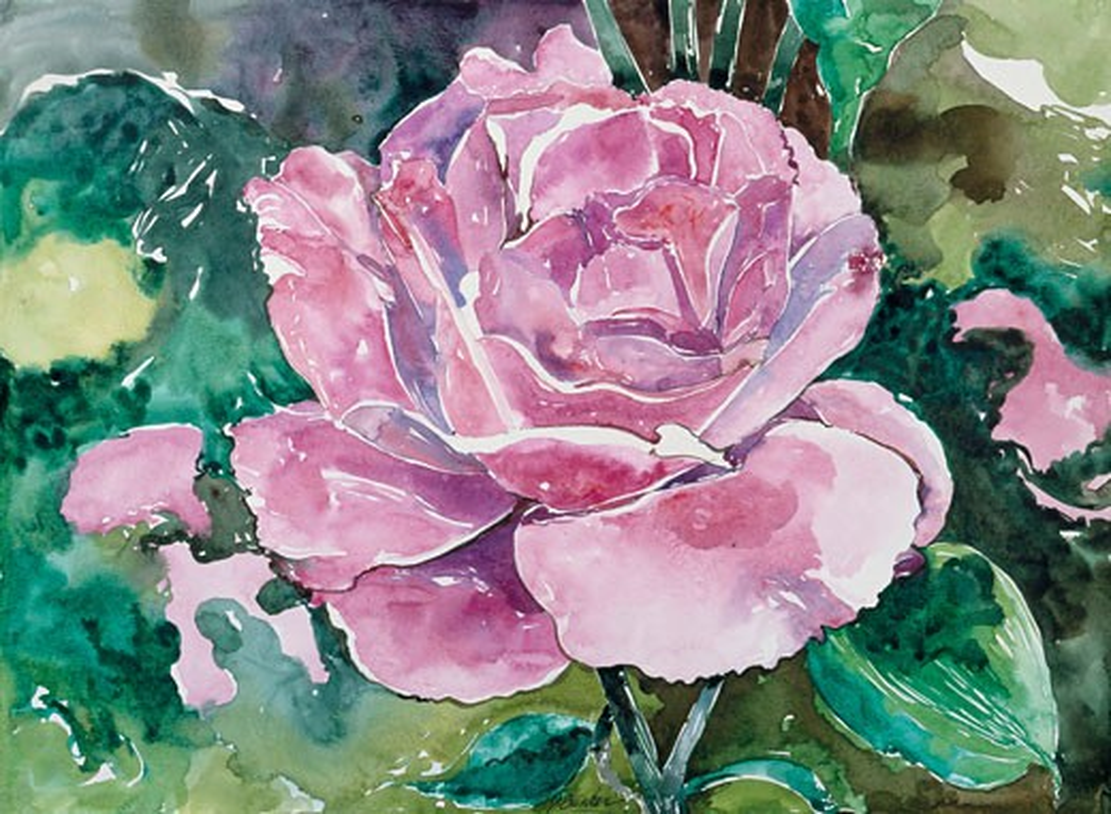 Rose Six 1993 John Bunker (20th C. American) Watercolor : Stock Photo