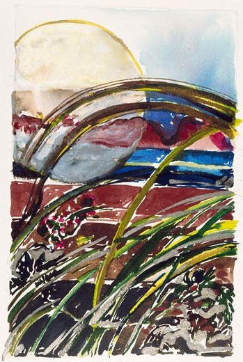 Florida Two by John Bunker, watercolor, 1978, 20th Century, Private Collection : Stock Photo