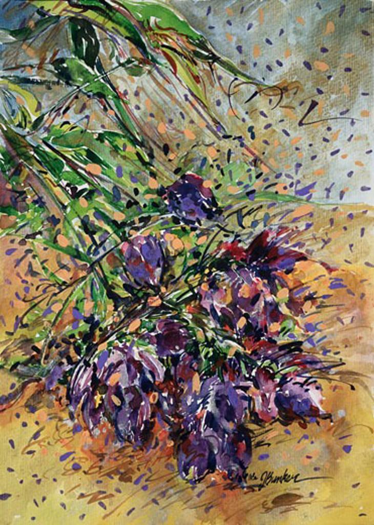 Sparkling Kenya Vine Flower 1998 John Bunker (20th C. American) Watercolor cardboard : Stock Photo