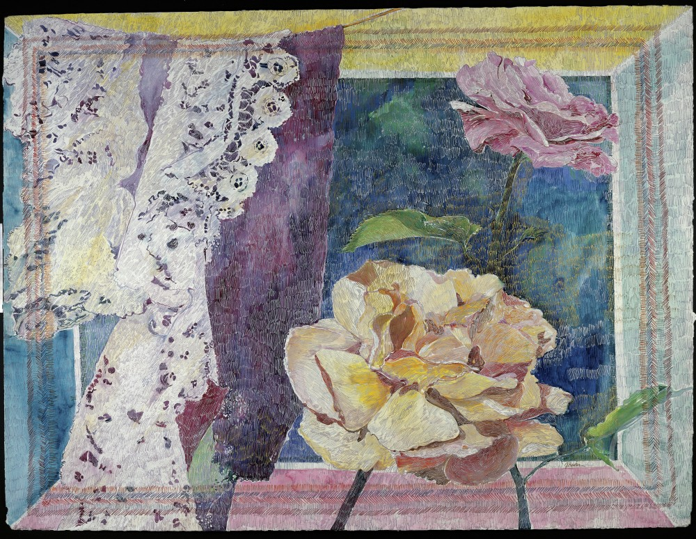 Remembrance London: Roses & Lace, 1987, John Bunker (20th C./American), Private Collection) : Stock Photo
