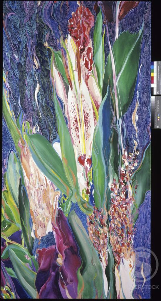 Subtropics Bouquet I, 2000, John Bunker (20th C./American), Acrylic on canvas : Stock Photo