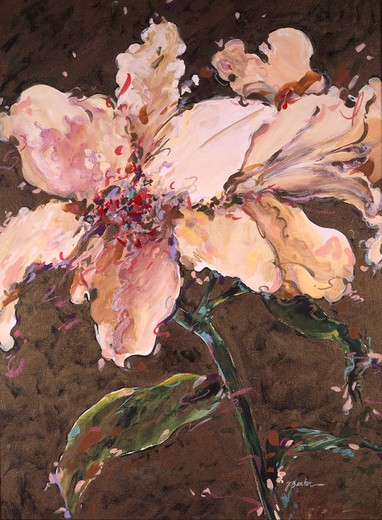 Stock Photo: 875-3381 Lilies by John Bunker, acrylic on canvas, 2000
