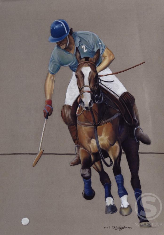 Stock Photo: 877-5008 Nacho Domecq, by Chloe Henderson, oil pastel, 1994, Born 1975