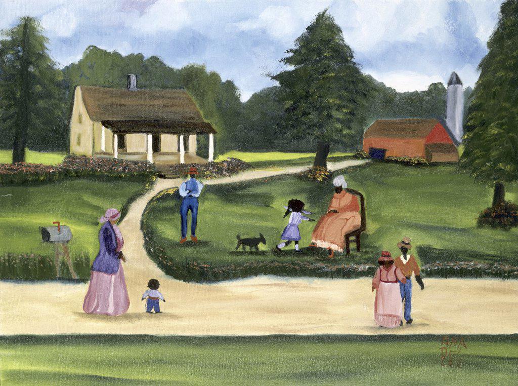 Stock Photo: 879-5000 Grandma 1993 Anna Belle Lee Washington (1924-2000/American) Oil on Canvas