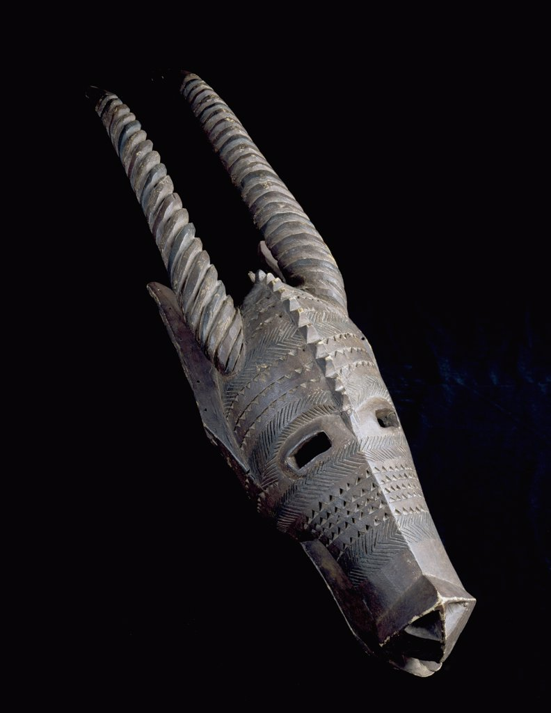 Stock Photo: 888-8010 Blacksmith's Mask Bobo Culture, Upper Volta African Art Collection of The Museum of Contemporary Art, Jacksonville, Florida